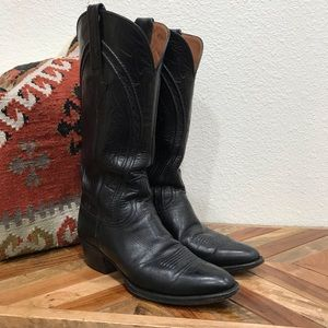 Black lucchese western boot